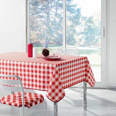 Tafelkleed Rood Wit Geblokt 150x240 CM