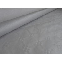 Papieren Tafelkleed Damast Zilver - 10 Meter