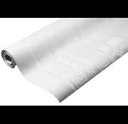 Papieren Tafelkleed Damast Wit - 8 Meter