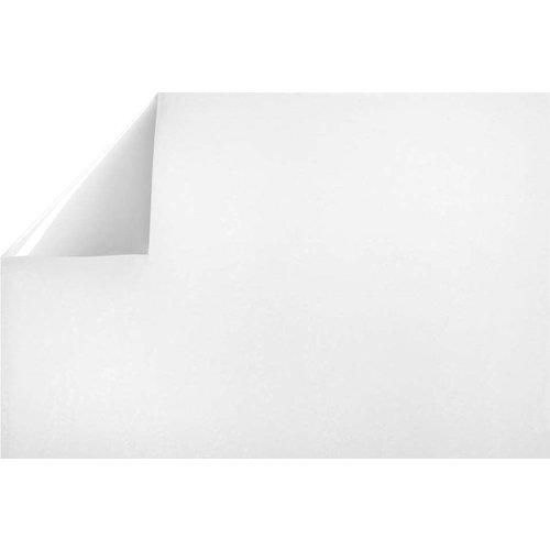 Raamfolie Statisch 2D print 90CM Breed - Frost Melk Wit