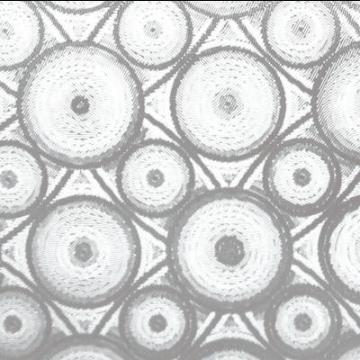 Raamfolie Statisch 2D Embossed 45CM Breed - Cirkels