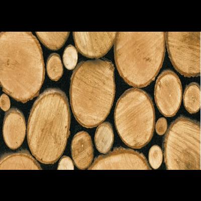 Plakfolie 45cm x 2m rond houtblok