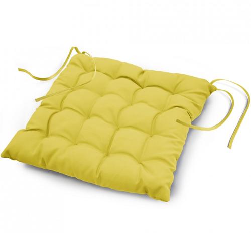 Stoelkussen Essential Geel 40 x 40 cm