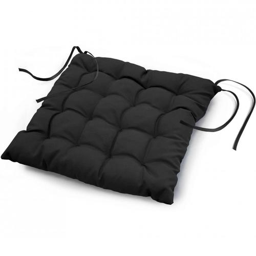 Stoelkussen Essential Zwart 40 x 40 cm