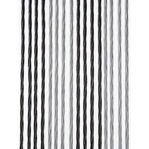 Victoria deurgordijn zwart/zilver duo
