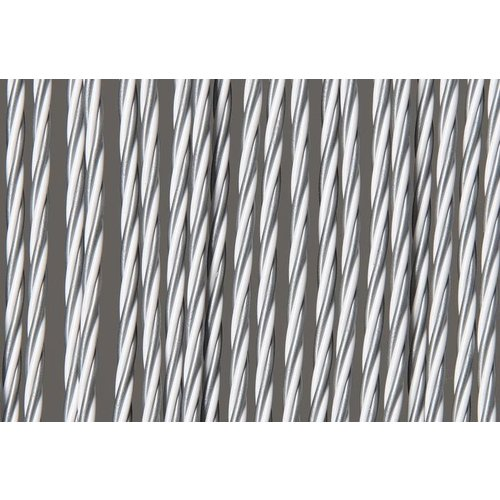 Deurgordijn PVC Zwaar Wit - Grijs