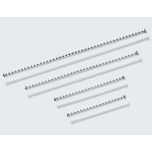 Douchestang Tubo 125-220 cm Wit