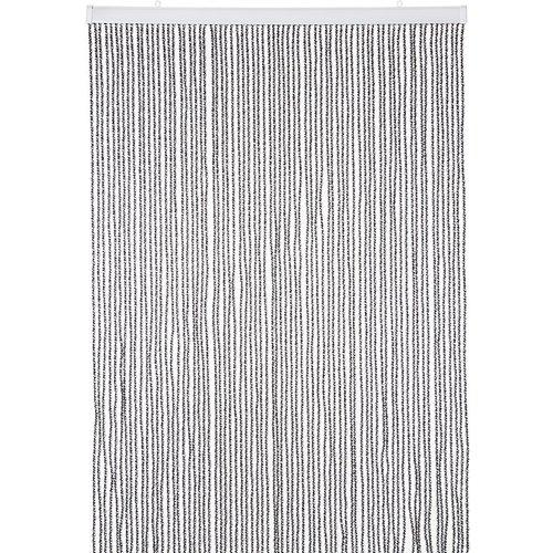 Deurgordijn PVC Zwaar Transparant - Zwart