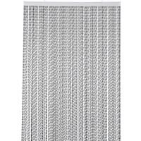 Deurgordijn PVC Licht Zilver - Zwart Twist