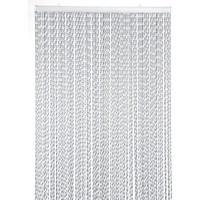 Opal deurgordijn zilver/wit mix