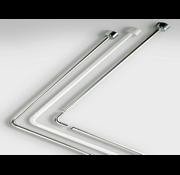 Douchestang Hoek Tubo 80x80 cm Chrome