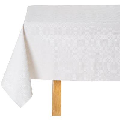 Gecoat Tafelkleed Damast Wit