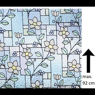 Raamfolie Statisch Flowers - 92 CM Hoog