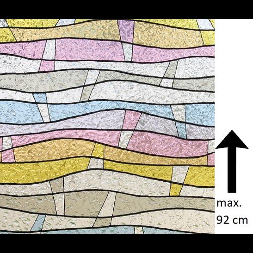 LineaFix Raamfolie Statisch Color Wave - 92 CM Hoog