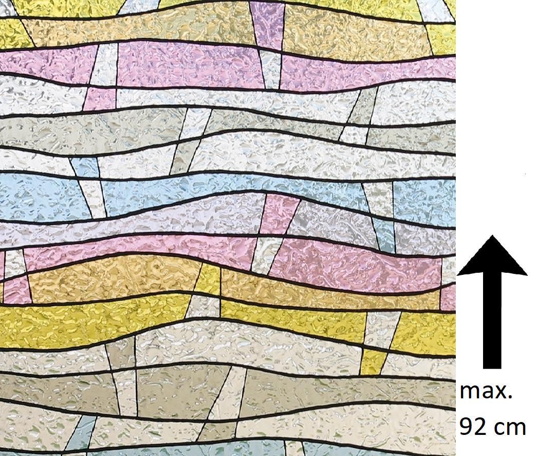 Raamfolie Statisch Color Wave - 92 CM Hoog