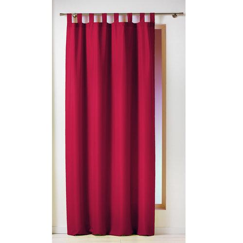 Kant En Klaar Gordijn Ophanglus Rood 140 x 260 cm