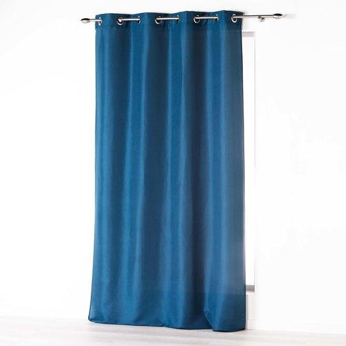 Kant En Klaar Gordijn Ringen Blauw 140 x 260 cm