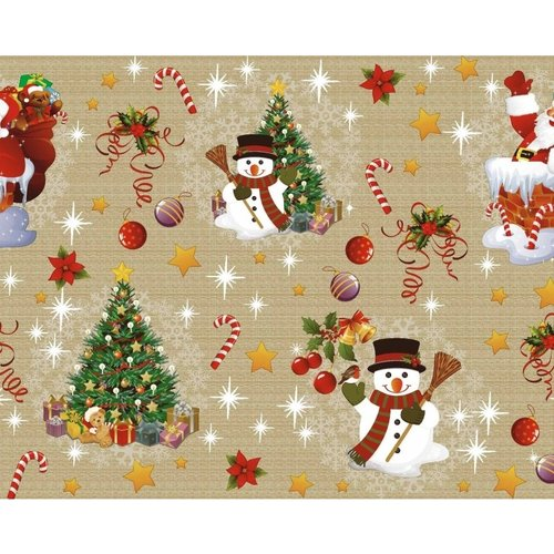Tafelzeil Kerst Goud