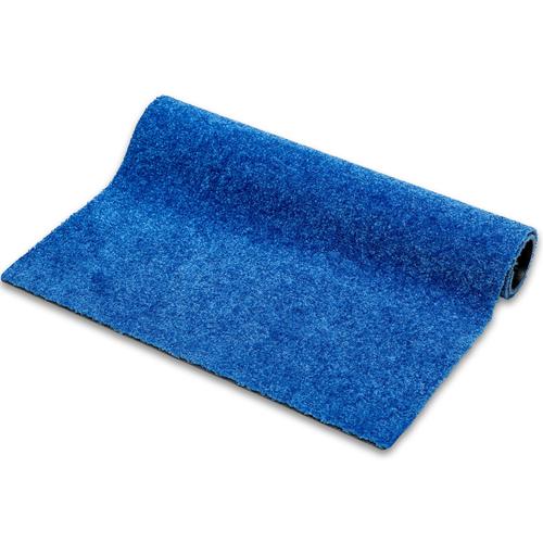 Droogloopmat Deurmat Op Maat Washclean Blauw - 9 mm Dik 115cm Breed