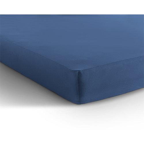 Hoeslaken Jersey 135 gr. Blauw