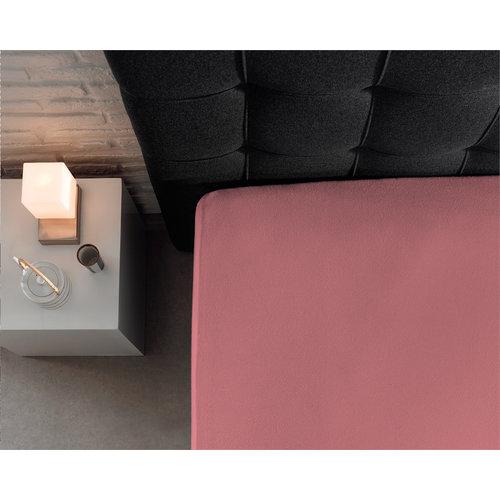 Hoeslaken Jersey 135 gr. Roze