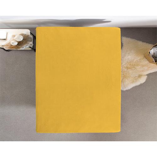 Superwoonwinkel Hoeslaken Dubbel Jersey 220 gr. Yellow