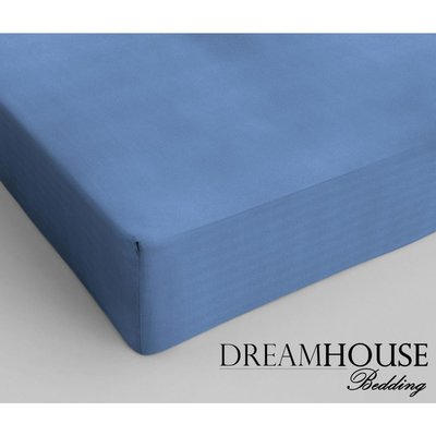 Dreamhouse Katoen Hoeslaken Blauw