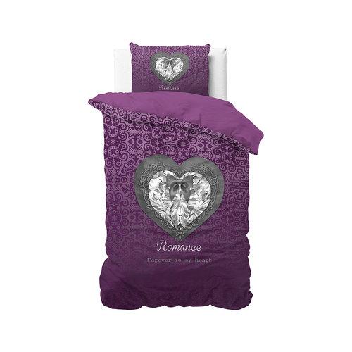 Dekbedovertrek Romance Heart Purple