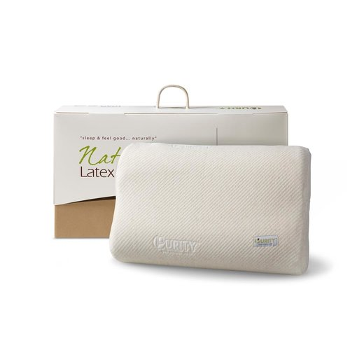 Natural Latex Linen Pillow Crème
