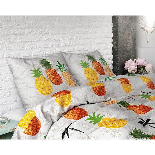 Dekbedovertrek Pineapple Wit