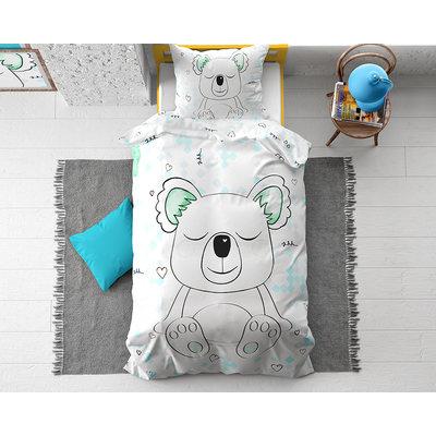 Dekbedovertrek Sleepy Koala Wit