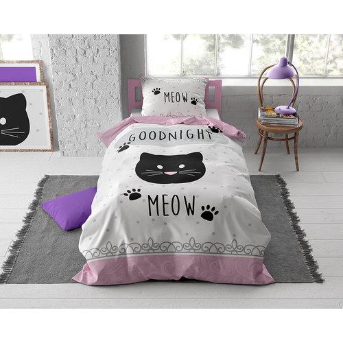 Dekbedovertrek Goodnight Kitty Roze
