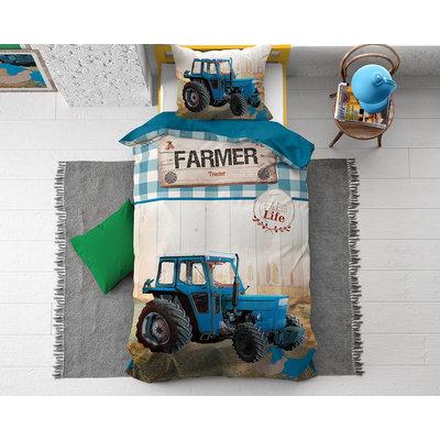 Dekbedovertrek Tractor Life Blauw