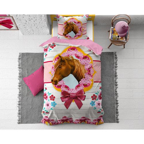 Dekbedovertrek Cute Horse Roze