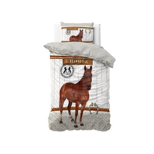 Dekbedovertrek Horse Riding Brown