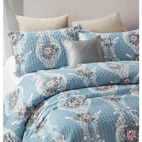 Bedsprei Retro Flower Blauw
