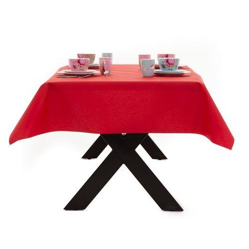 Gecoat Tafellinnen Maly Rojo Rood Effen 140CM