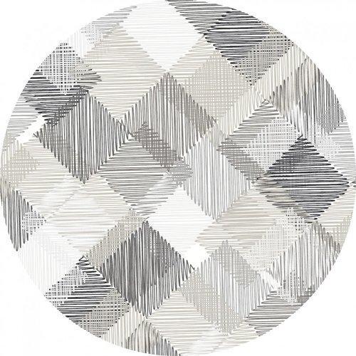 Tafelkleed PVC Rond Blockies Grijs Ø160CM