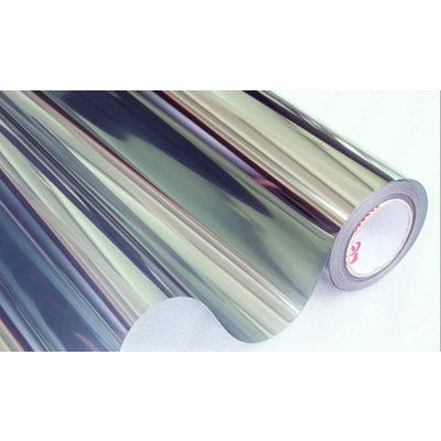 Zonwerende Raamfolie Statisch Zilver/Transparant - 90CM Breed