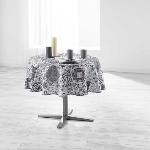 Tafelkleed Essentiel Persane Grijs Rond 180 cm