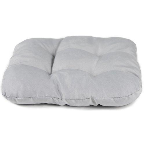 Stoelkussen Comfort Grijs 40 x 40 x 8 cm