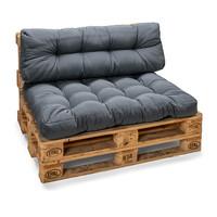 Palletkussens Comfort Grijs - Rugkussen 60x40x20-10