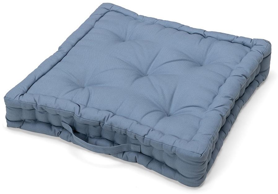 SALE: 0% - Matraskussen Katoen Blauw - 40 x 40 x 10 cm