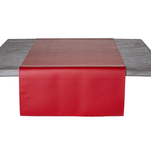 Tafelloper Kunstleer Rood 45 x 140 CM