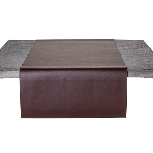 Tafelloper Kunstleer Bruin 45 x 140 CM