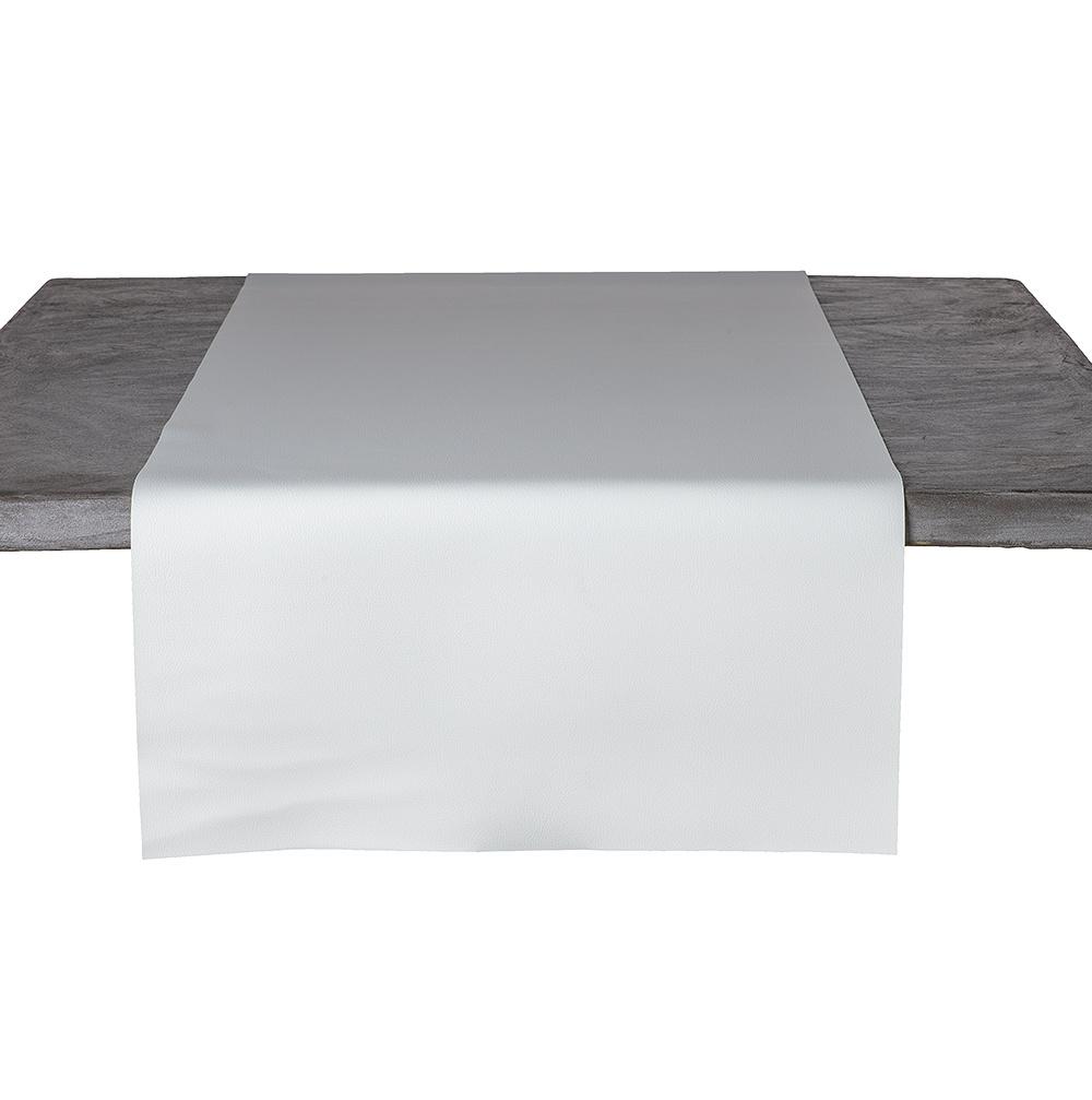 Tafelloper Kunstleer Wit 45 x 140 CM