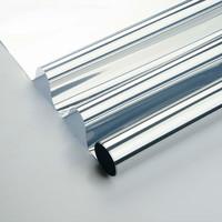 Zonwerende Raamfolie 60cm x 2m Transparant/Zilver