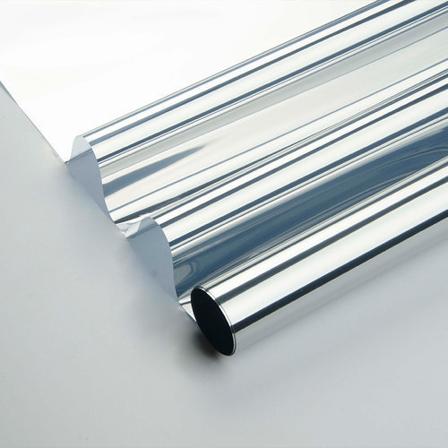 Zonwerende Raamfolie 90cm x 2m Transparant/Zilver