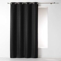 Kant En Klaar Gordijn Ringen Jacquard polyester Zwart 140 x 260 cm