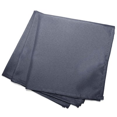 Servetten Essentiel 40x40cm Polyester Donker Grijs